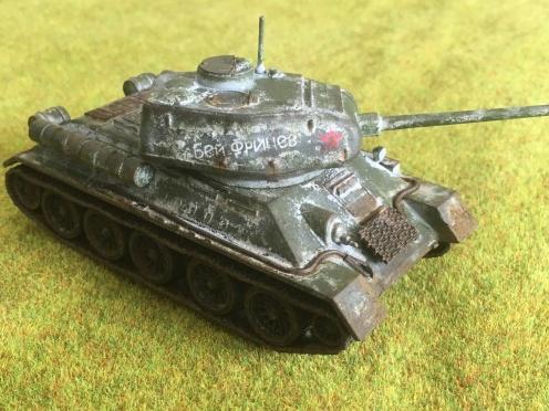 T34-85 Winter Camoflague
