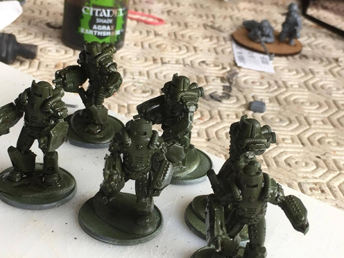 Soviet Heavy Infantry - Brown Wash