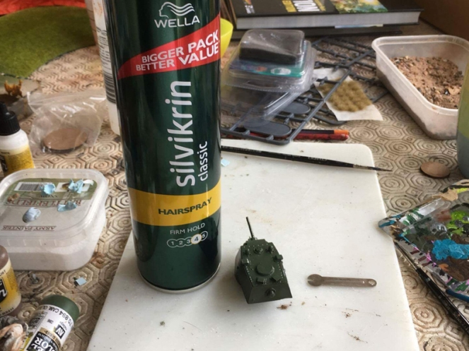 KV1 Turret with Hair Spray