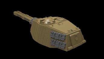 German Rail Gun Turret Concept Art